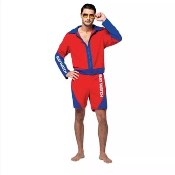 f84178939004 NEW Baywatch Lifeguard Adult Halloween Costume